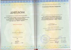 Семененко Оксана Андреевна